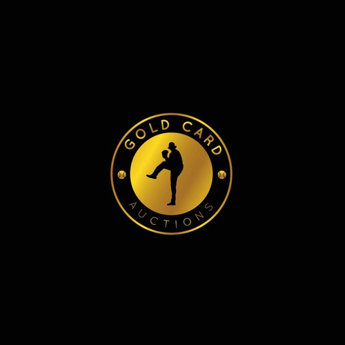 High End Card Auction Company Logo Design