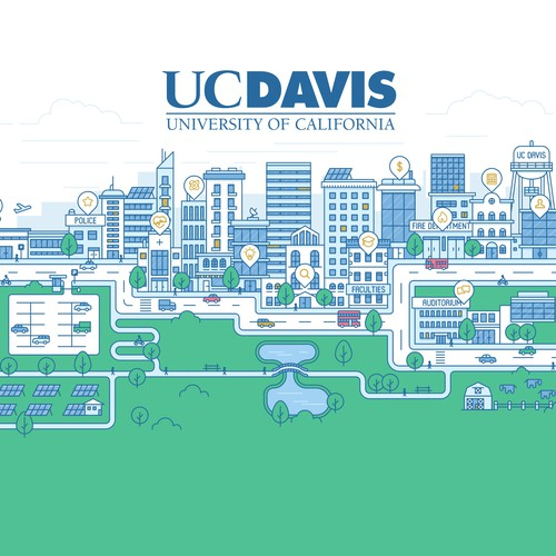 Illustration for major California university