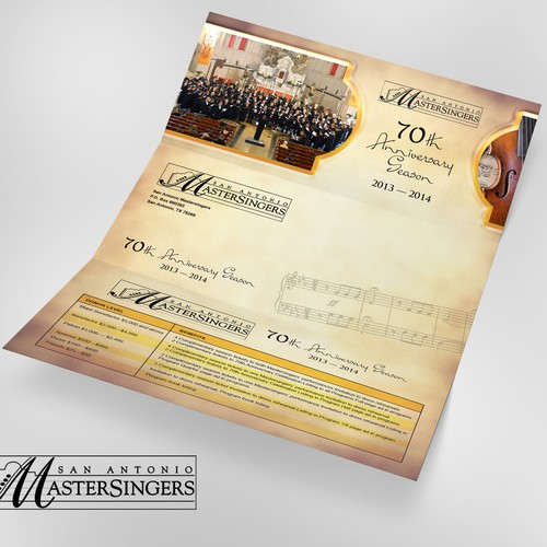 Anniversary Brochure for Master Singers