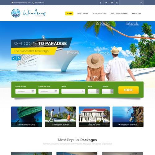 Website design neede for travel-related website