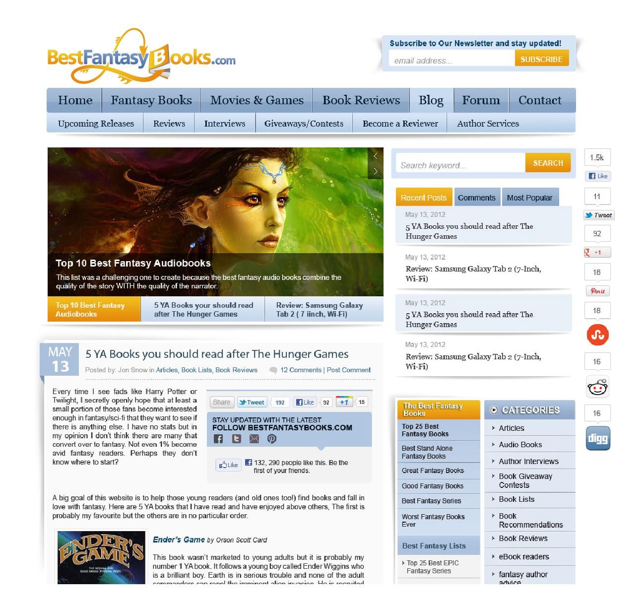 BestFantasyBooks.com needs a new logo