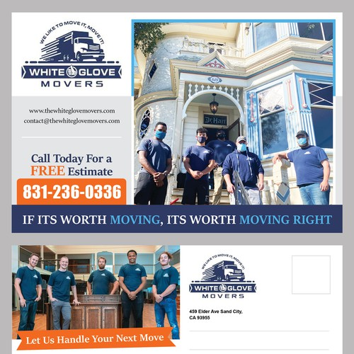 Mailing Flyer For White Glove Movers