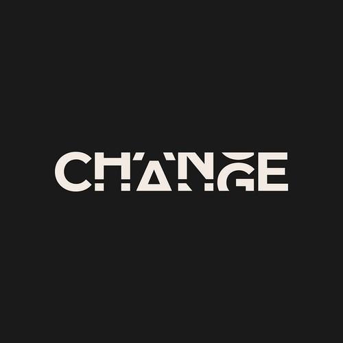 CHANGE wordmark logo