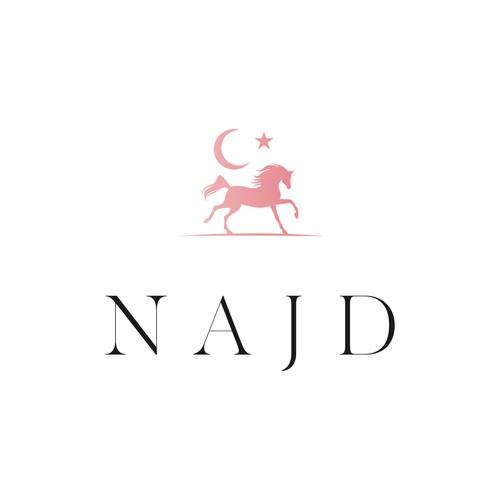 A high-end Arabian horse logo