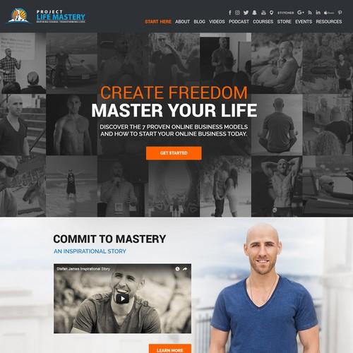 Bold design for Self Development website