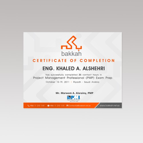 Training Certificate New Design