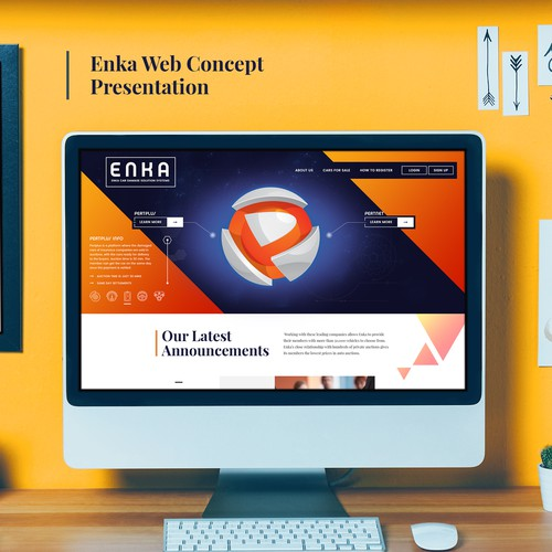 Enka Website Concept