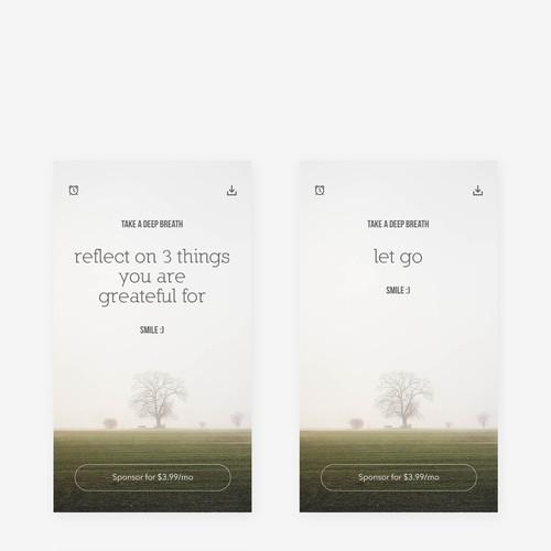 Calm approch for a meditation app