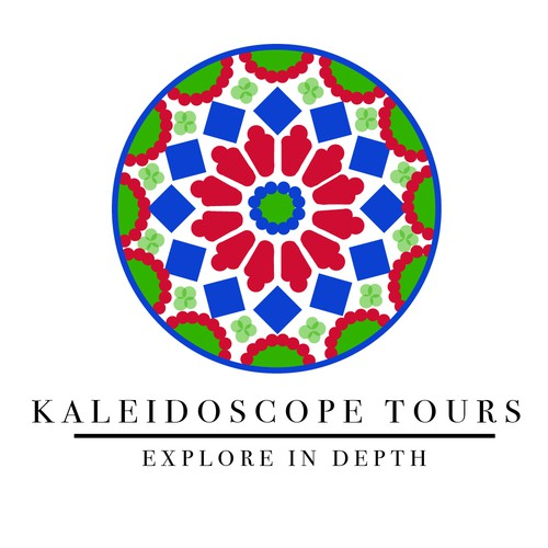 Colorful logo design for a personal tour company