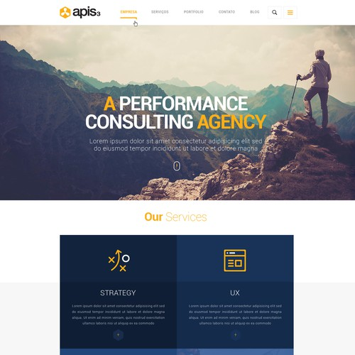 apis3 corporate website design