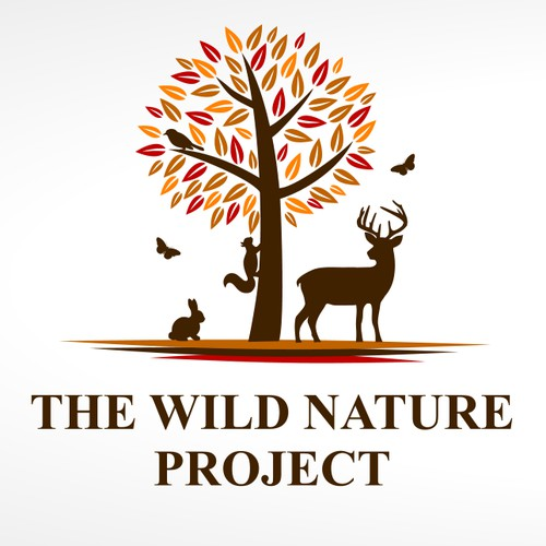 logo for wilderness survival, nature, and tracking school