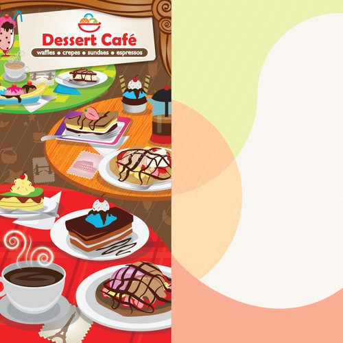 Menu Design for Desert Cafe