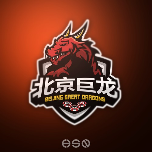"""""""BEIJING GREAT DRAGON"""" ,Strong And Bold eSports Logo"""