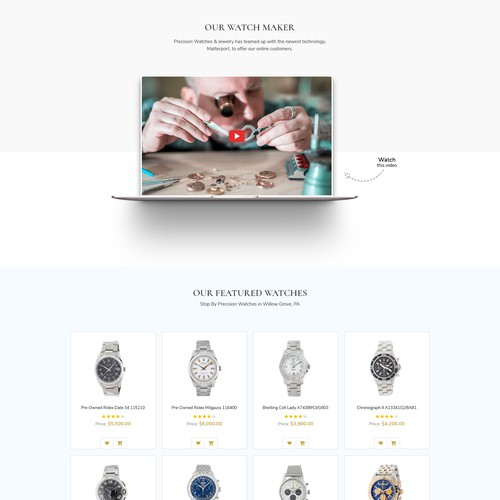 High End Luxury Watch Website Needs An Update!