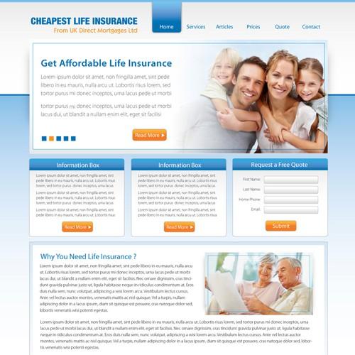 Life Insurance web design