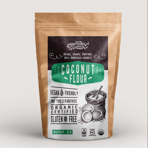 label coconut flour