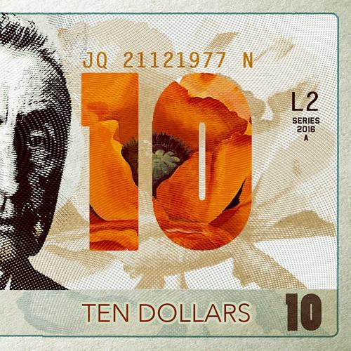 Georgia O'Keeffe 10 dollars note.