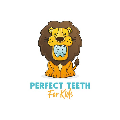 Kids Dental Lion Logo