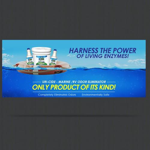 Fun water themed banner