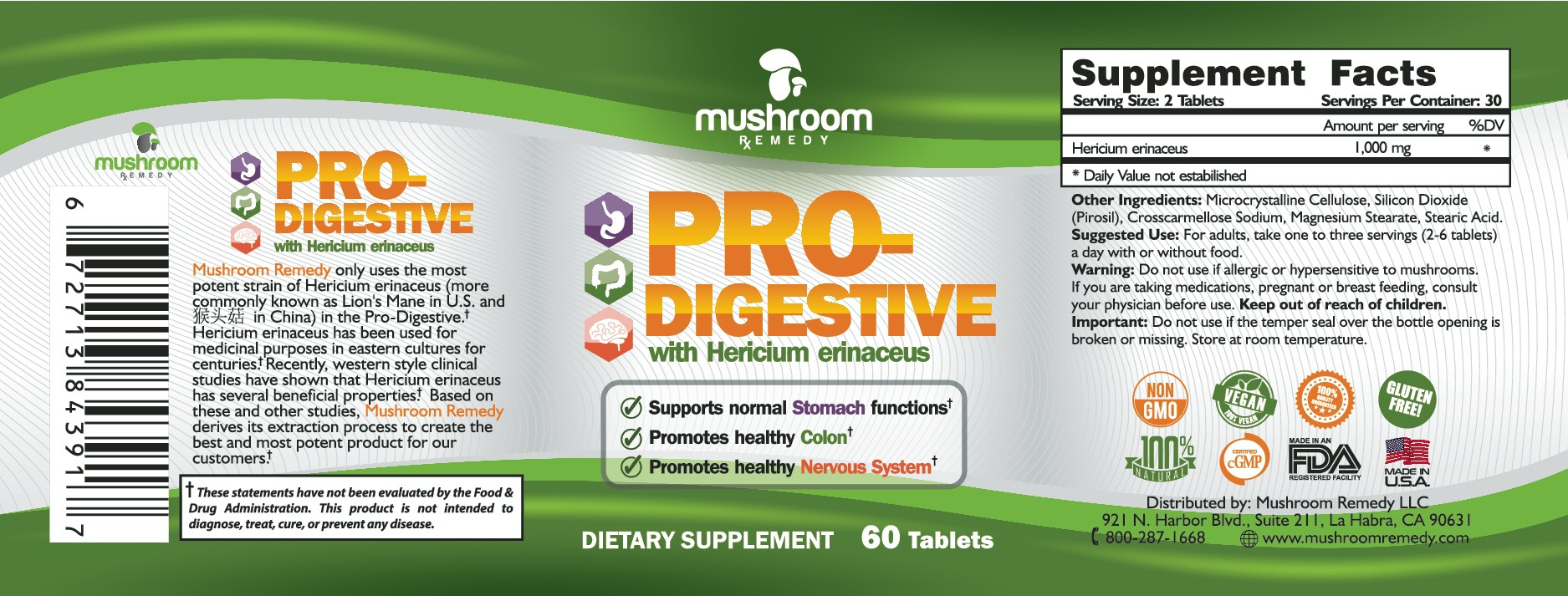 Create an eye catching and creative label for Mushroom Remedy