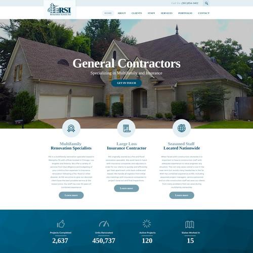 Wordpress theme for Restoration Systems Inc