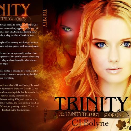 Urban Fantasy Book Cover Design for Book 1 of Trilogy
