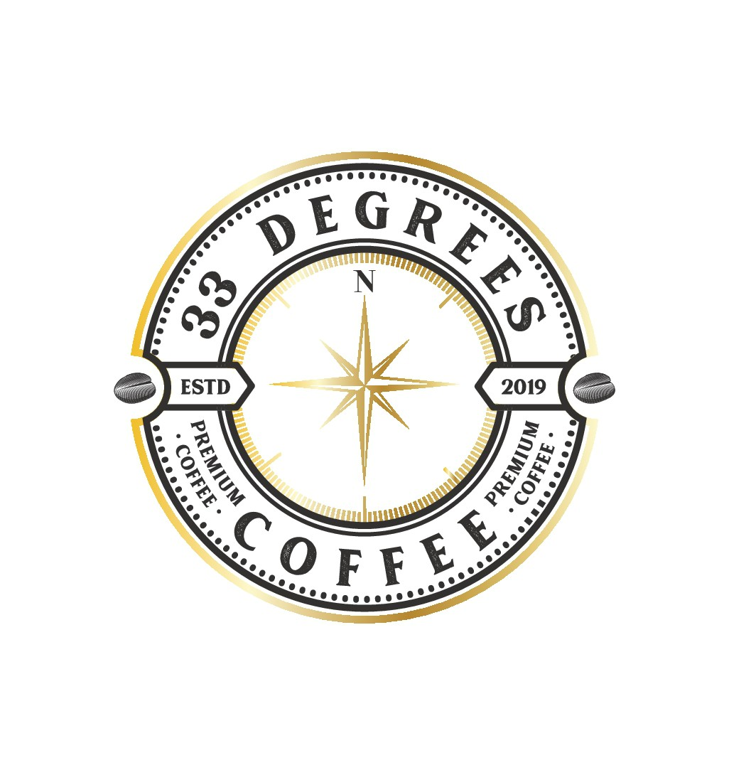 coffee company needs a simple but eye catching logo design including compass pointing to 33 degrees Creativity needed an