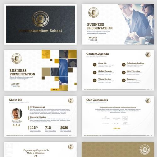 Presentation Design for a Prestigious high end school