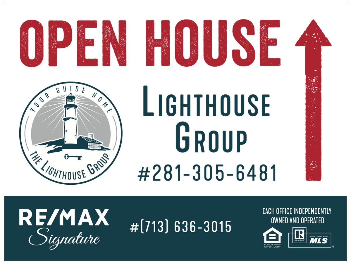 business cards and open house directional signs