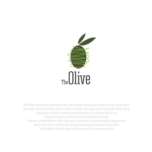 logo design for the olive home furnishing