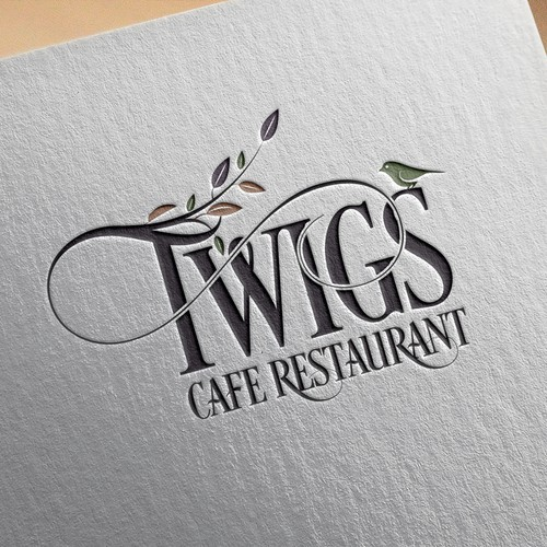 A creative logo design for Twigs Cafe Restaurant