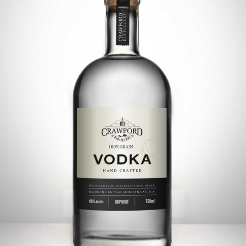 vodka label