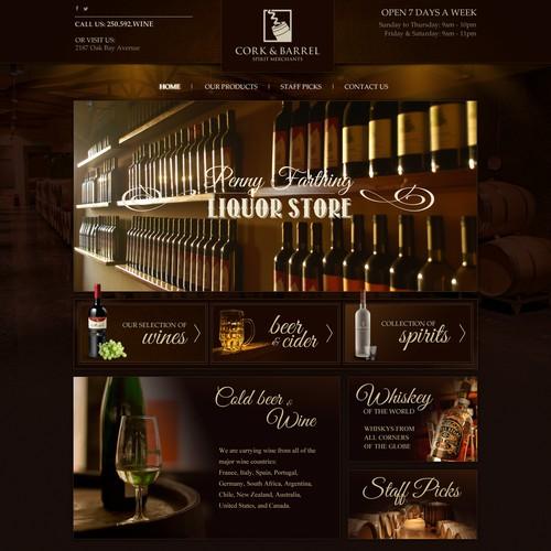 A website for the Spirit Merchants