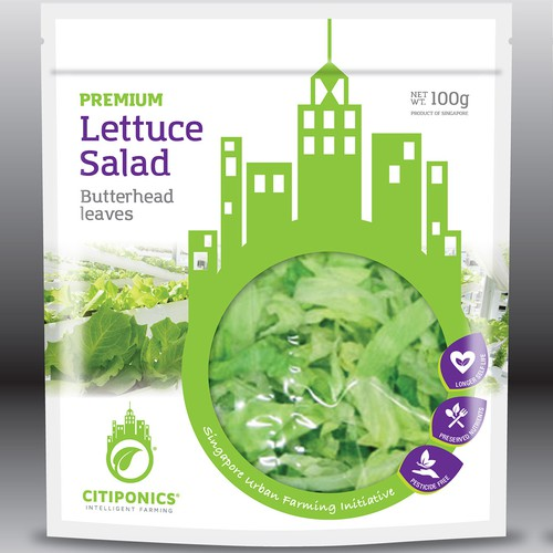 Lettuce Salad Bag Design