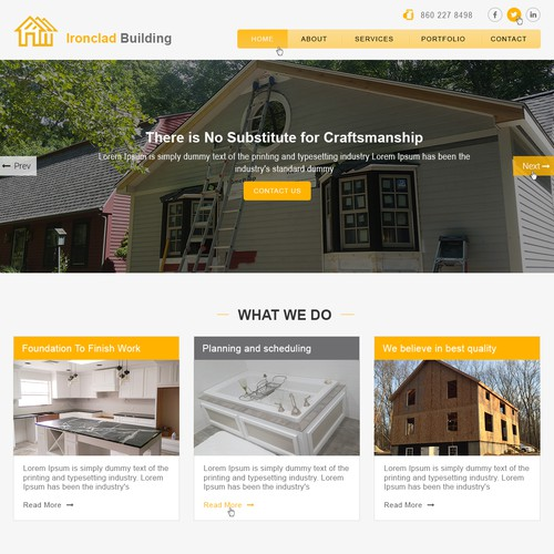 Constructions Company Home page website