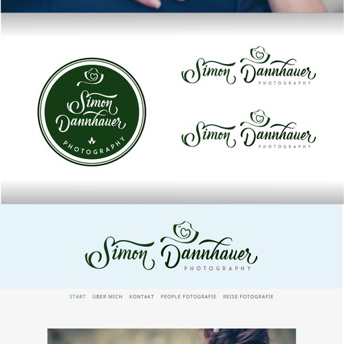 Manually script hand logo