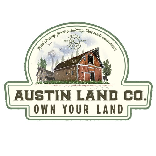 Logo for veteran owned land management business