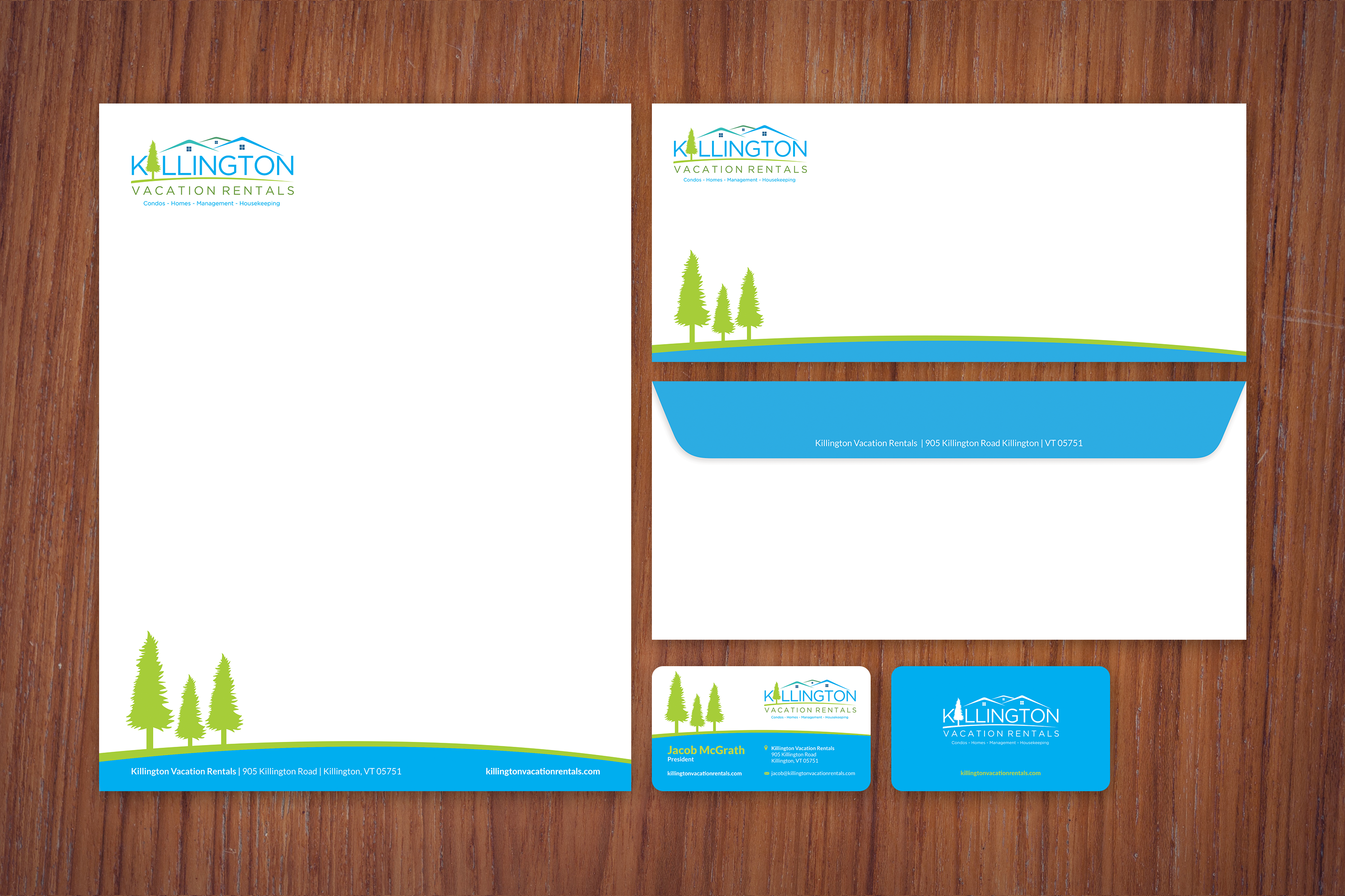 Business Card, Stationary and Envelope Design
