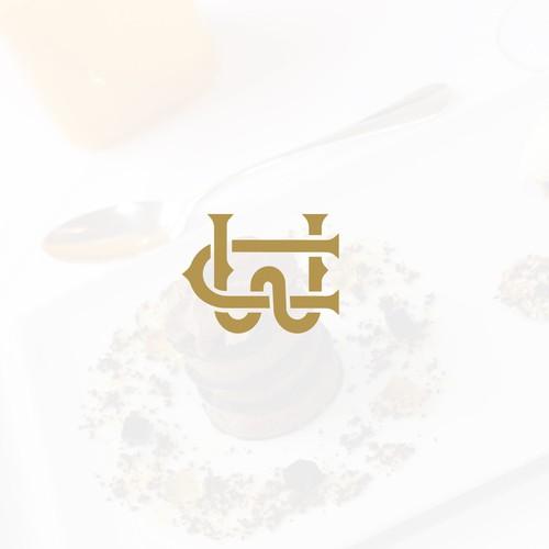 Luxurious pastry chef monogram logo.