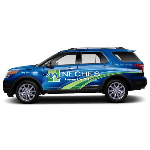 Neches FCU Truck Wrap Design