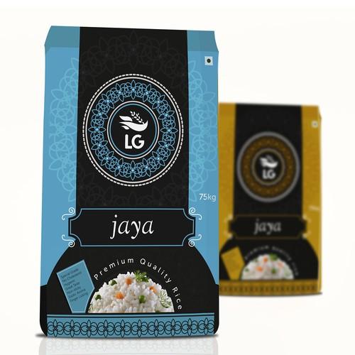 rice bag design