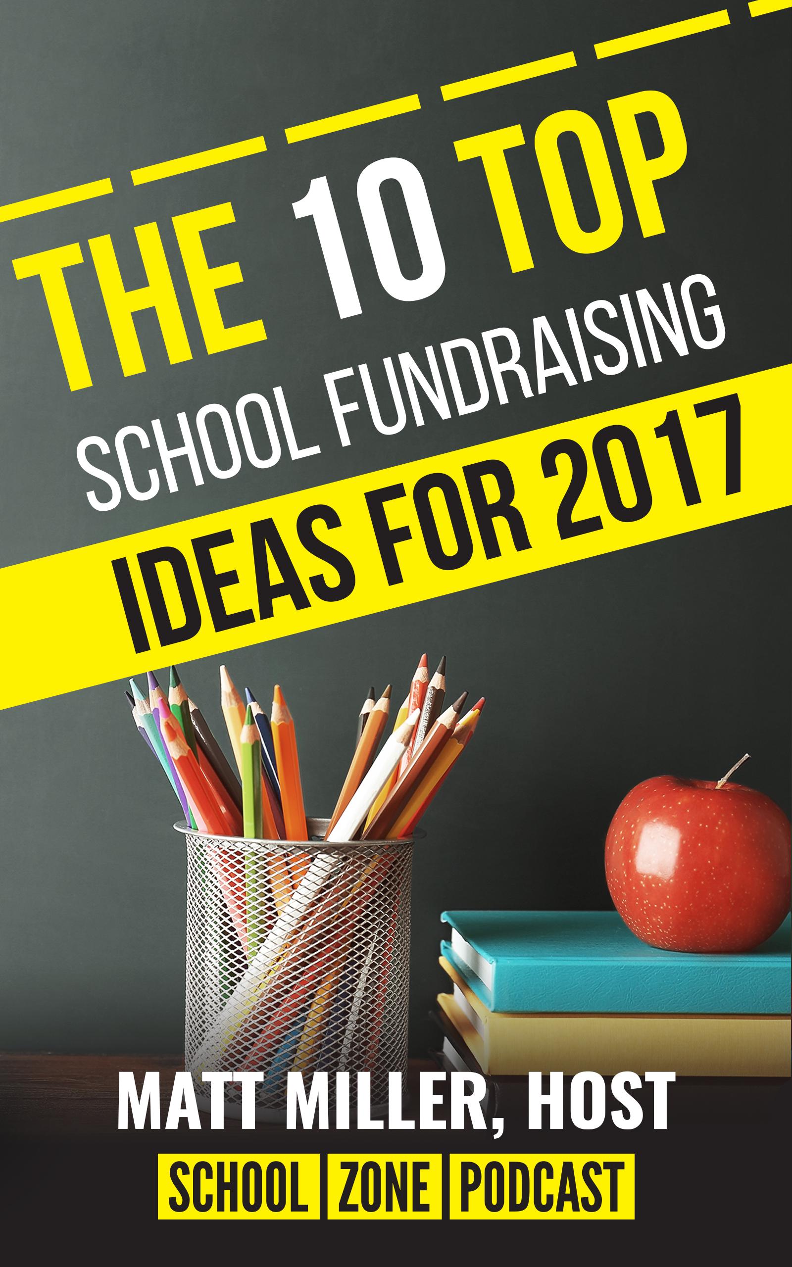 Book Cover Design For School Zone's 2017 School Fundraising Ideas Guide