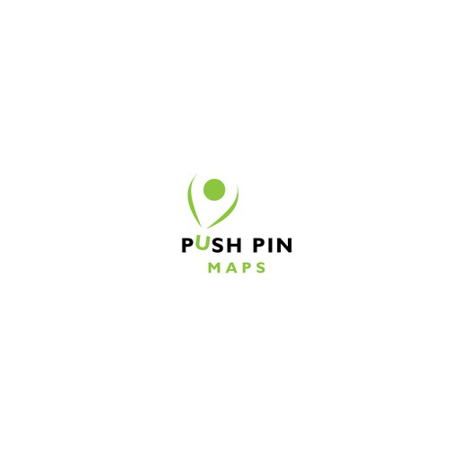 An elegant negative space logo for a travel maps site