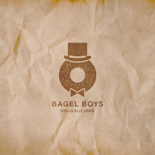 Simple logo proposal for bagel shop.