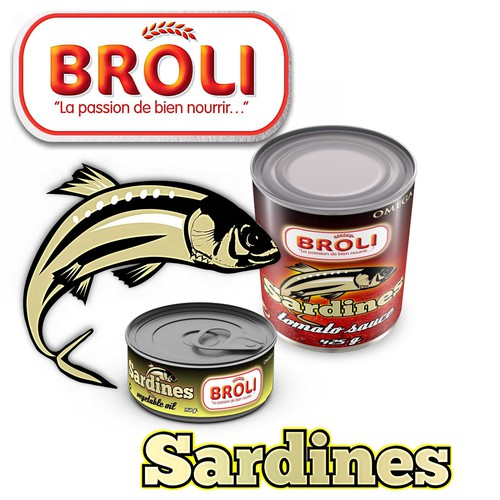 Wanted: New label for our BROLI sardines tins