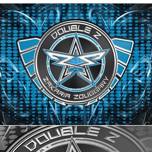 Stoer logo voor een aanstormend talent kickboxer