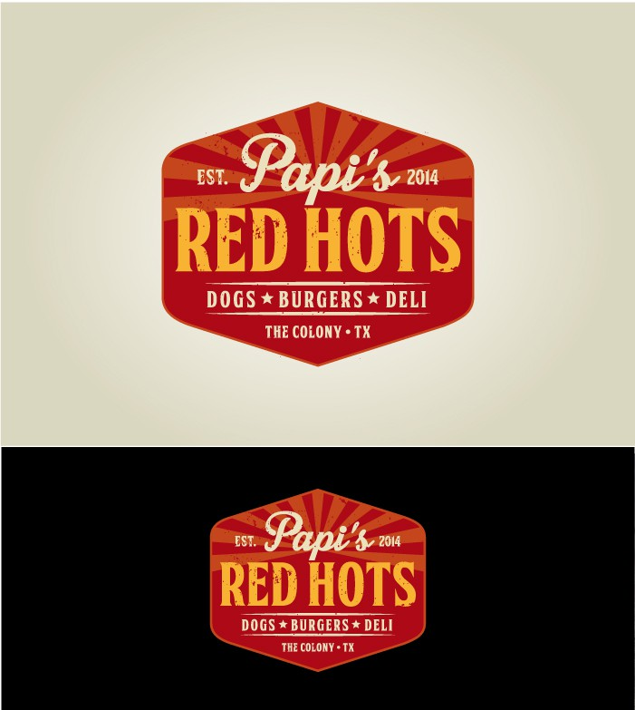 Fast casual restaurant franchise concept - Papi's Red Hots - needs a brand ID.