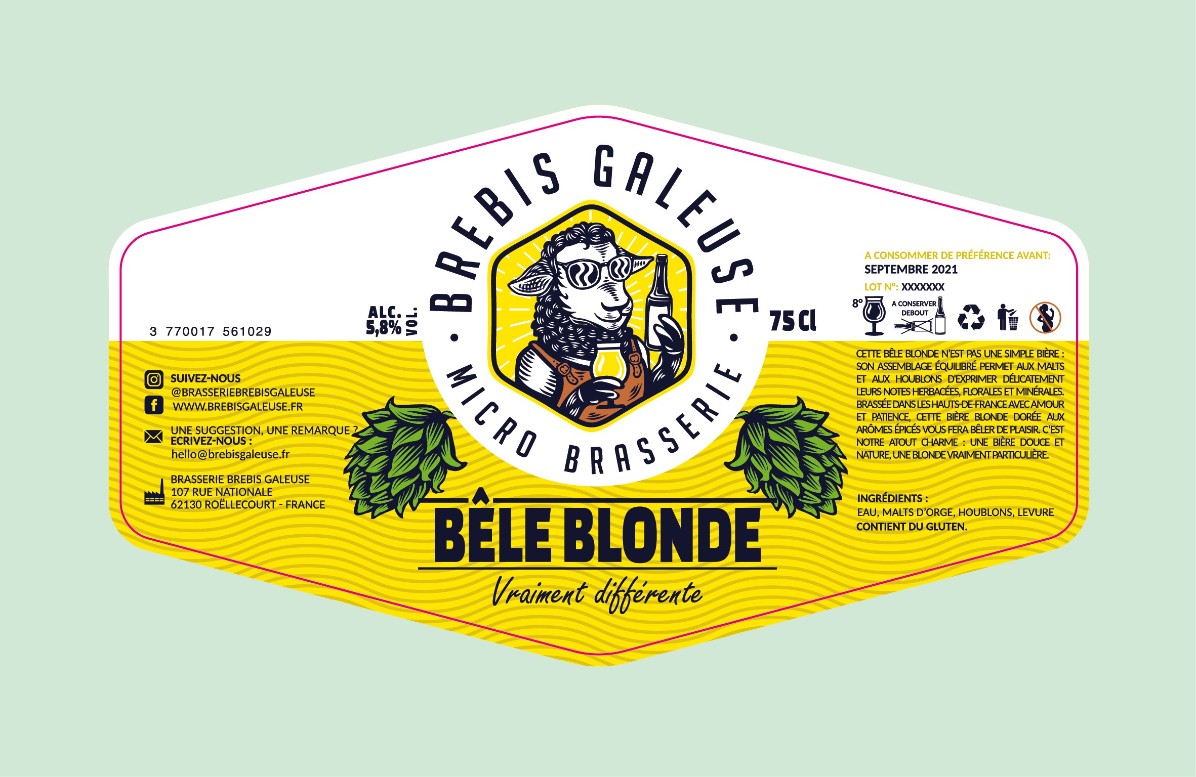 3 others labels of bottle (brebis galeuse beer)
