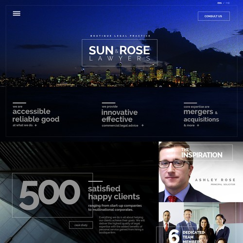 Create a site for an edgy and inspirational law firm!