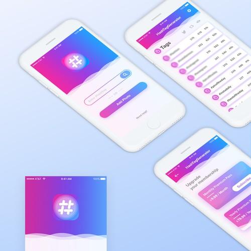 UI for a Hashtag Generator app